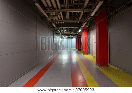 Corridor In Industrial Area