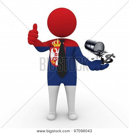 3d businessman people  Serbia - oil business Serbia