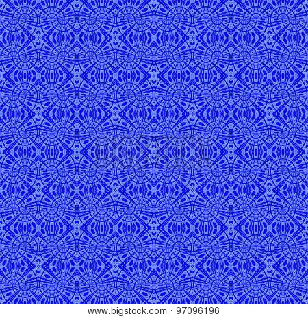 Seamless pattern blue