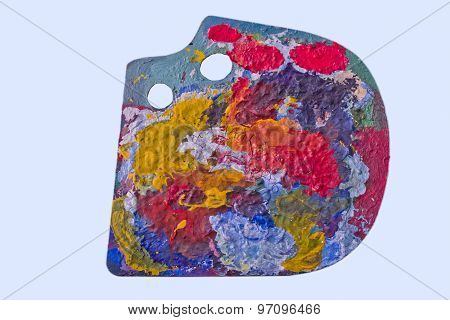 Palette with dried paint