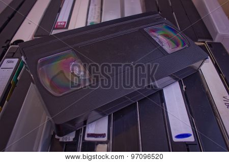 A lot of old video tapes
