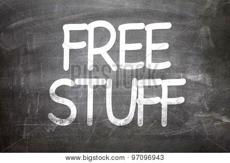 Free Stuff written on a chalkboard