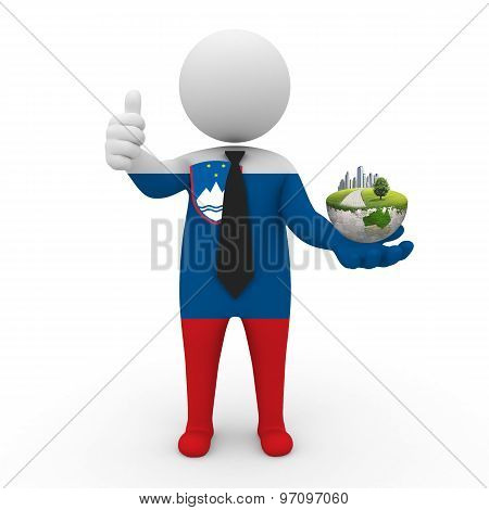 3d businessman people  Slovenia - Environment and construction Slovenia