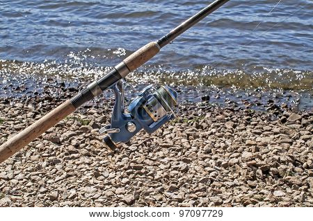 The Coil On A Spinning Rod For Fishing