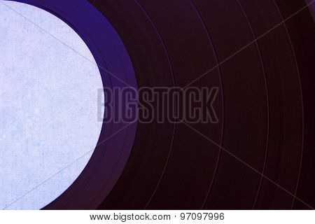 Vinyl Record Purple Closeup