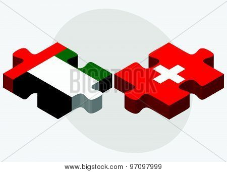 United Arab Emirates And Switzerland Flags