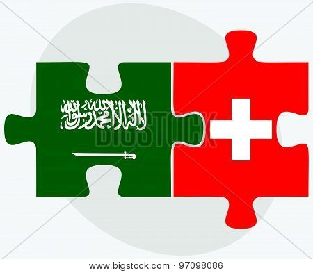 Saudi Arabia And Switzerland Flags