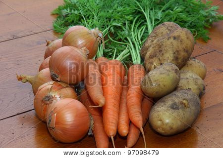 Onions, Carrots & Potatoes