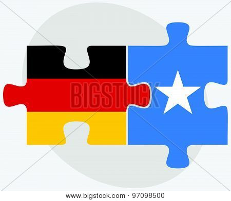 Germany And Somalia Flags