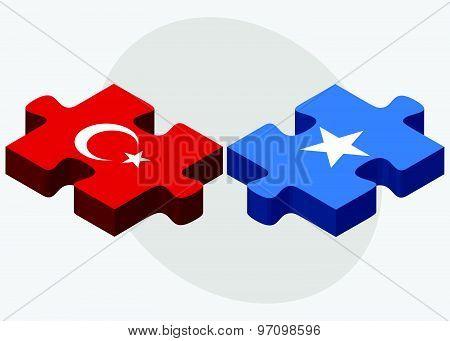 Turkey And Somalia Flags