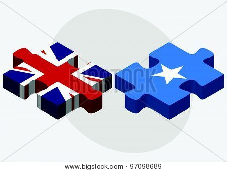 United Kingdom And Somalia Flags