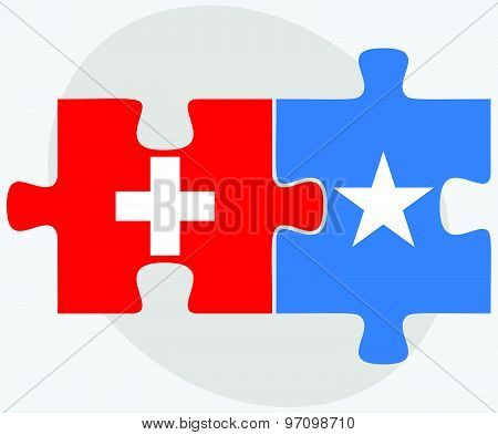 Switzerland And Somalia Flags