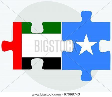United Arab Emirates And Somalia Flags