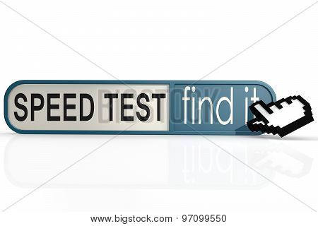 Speed Test Word On The Blue Find It Banner