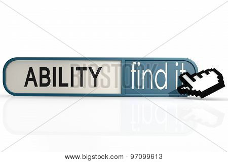 Ability Word On The Blue Find It Banner