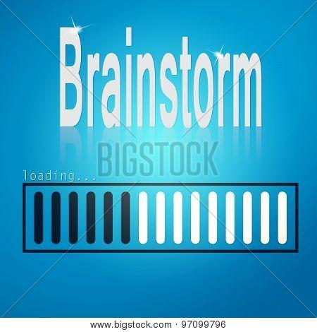 Brainstorm Blue Loading Bar