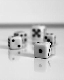 stock photo of augen  - Spiel wuerfel dice number game play spielen - JPG