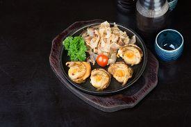 foto of shell-fishes  - japanese cuisine - JPG