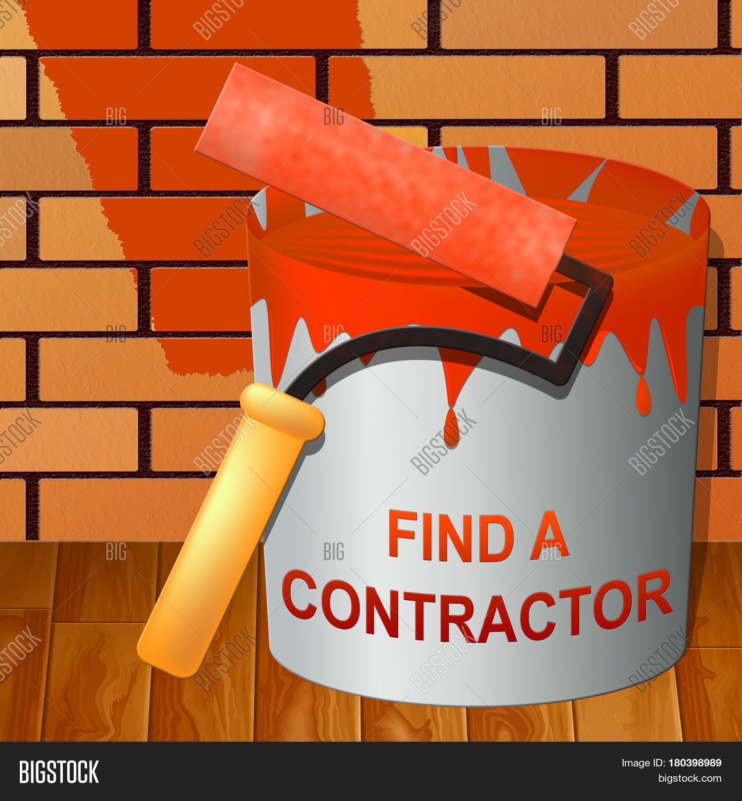 Find a contractor showing finding builder 3d illustration for Find a builder