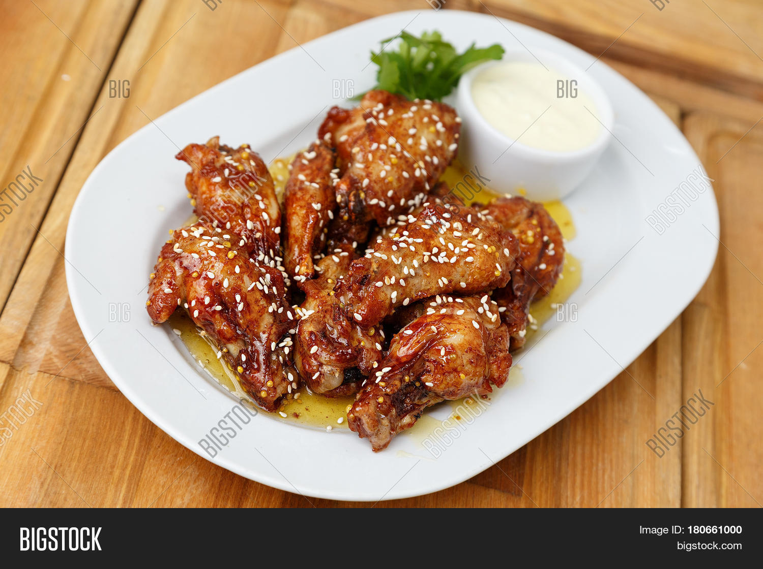 Fried chicken wings mayonnaise image photo bigstock for Table 52 fried chicken recipe