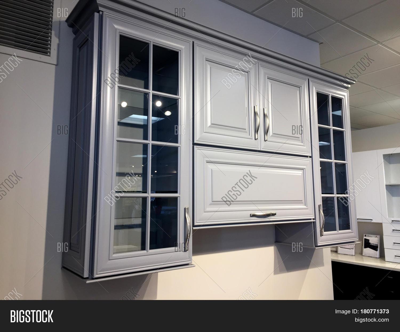 Kitchen Cabinet Glass Doors Image Photo Bigstock