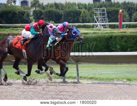 Uma corrida de cavalos