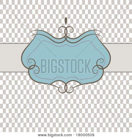 Template frame . Vector illustration