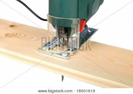 Sawing Wood Board Electric Jigsaw
