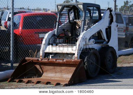 Bobcat White Forklift
