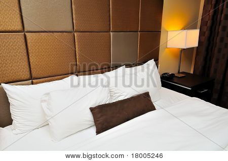 Closeup Of Comfortable Bed