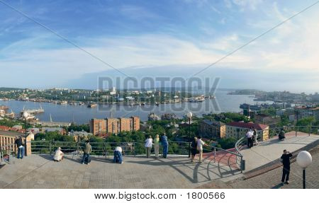 Vladivostok, Panorama Of Golden Horn Bay