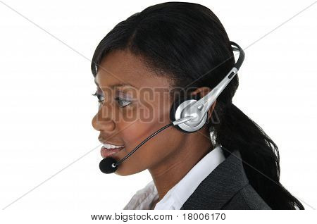Attractive Business Woman With Headset 10