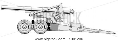 203Mm Howitzer 02 - Side View
