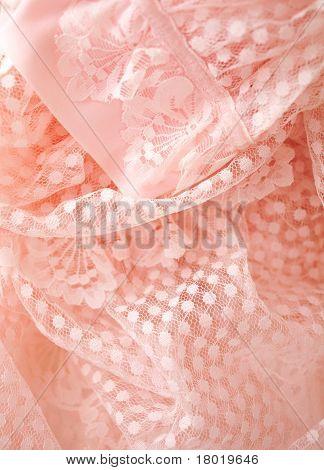 encaje vintage rosa