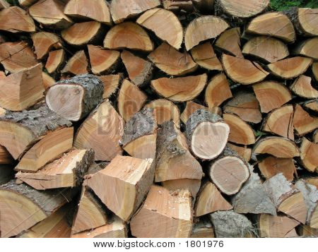 Split Wood Pile Pattern Background