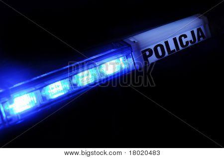 Police Light In Poland