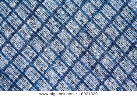 Texture and blackground of blue square pattern fabric