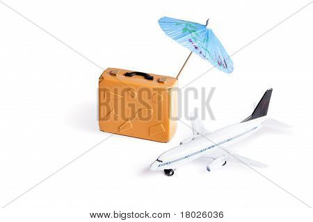 Photo Concept Of Vacation On White