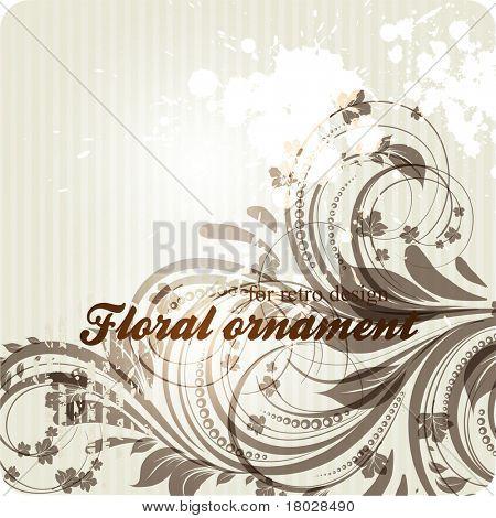 eps10 vector grunge vintage floral design