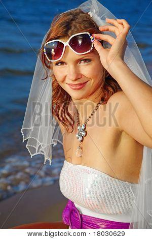 Bride On Sea Shore