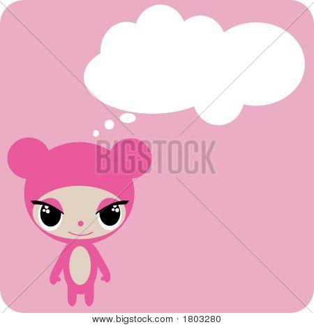Pink Cartoon Animal