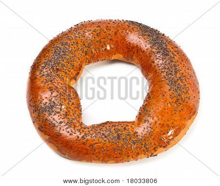 Doughnut-shaped Bun Bread Roll With Poppyseeds