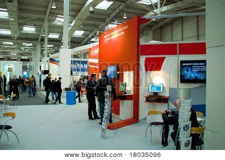 Hannover, Germany - March 5: Stand Of The Russia On March 5, 2011 In Cebit Computer Expo, Hannover,