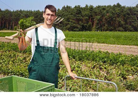 Happy Organic Farmer