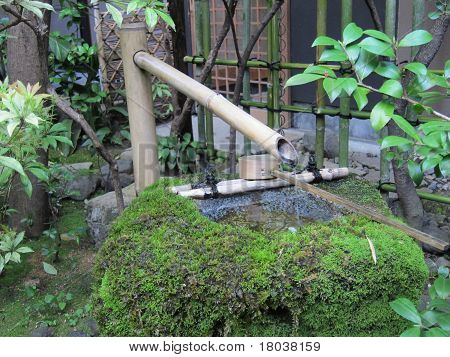 Japanese style water fountain
