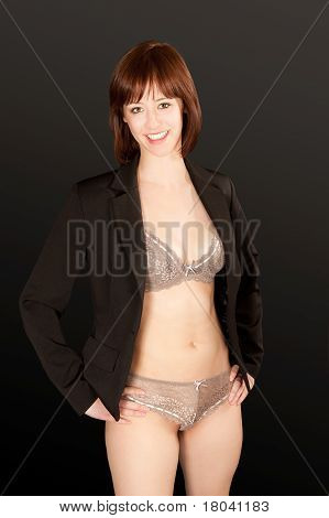Portrait Of A Woman In Sexy Underwear