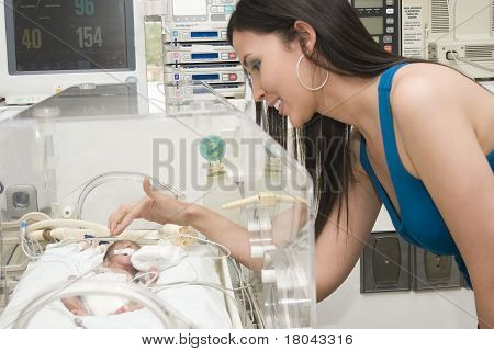 Beautiful Mother And Her Newborn