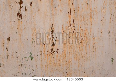 metal surface with a  old paint