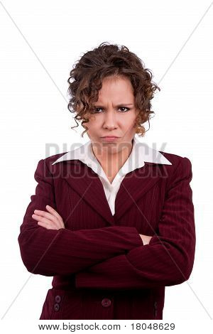 Business woman angry