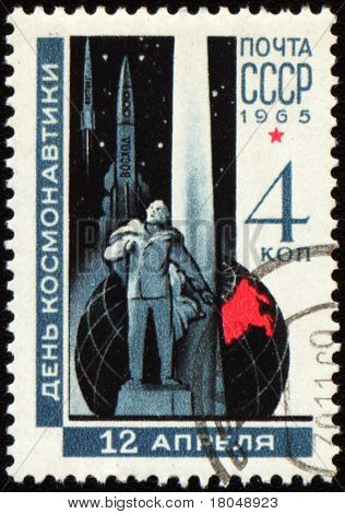 Russian Scientist Tsiolkovsky On Post Stamp